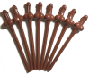 Sexxxy Brown Pecker Sipping Straws - 8pk