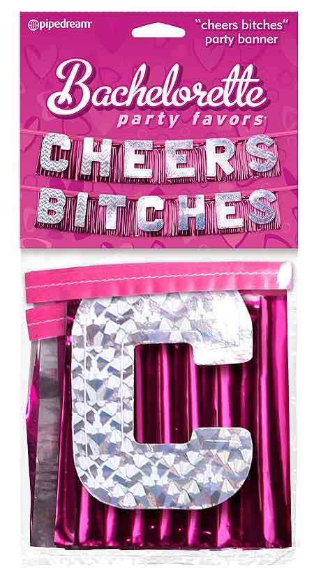 Bachelorette Party Decorations & Supplies - Cheers Bitches Banner