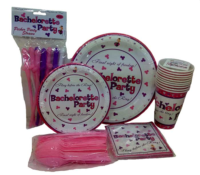 Bachelorette Party Supplies - Tableware