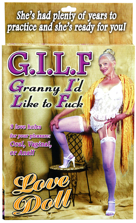 G I L F Bachelor Party Granny Blow Up Love Doll Pipedreams