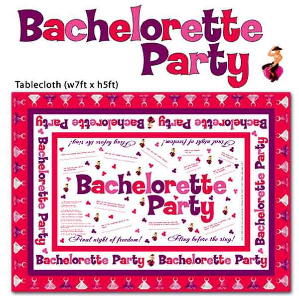 Bachelorette Party Favors & Supplies - Tablecloth