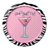 Girls Night Out Small Cake Plates with Martini Glass Bachelorette Party Supplies