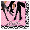 LGBT Bachelorette Party Girls Night Out Legs + Zebra Napkins