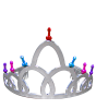 Discount Bachelorette Party Khepher Colored Mini Pecker Tiara Crown