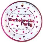 Bachelorette Party 9 inch White Paper Plates - Discount LGBT Bachelorette Party Supplies